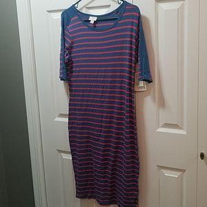 LuLaRoe Dresses - 2 LuLaRoe Julia Dresses NWT Large